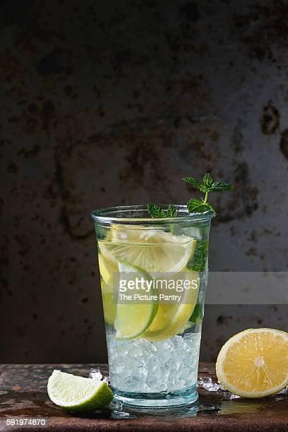 Lemonade with lime and lemon
