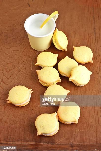 LemonfFrench macarons