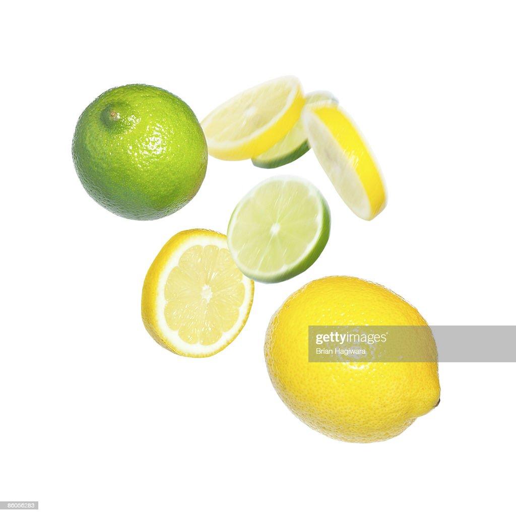Lemons and limes : Stock Photo