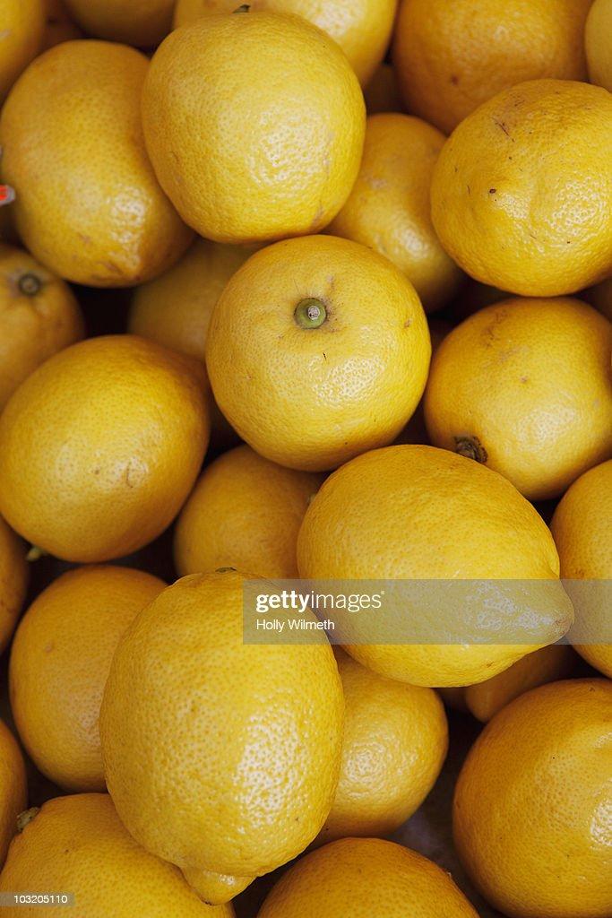 Lemons at a market : Stock Photo
