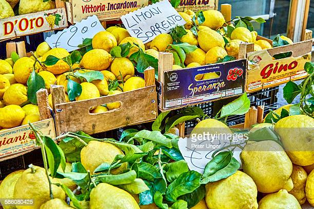 Lemons for sale at street stall, Sorrento