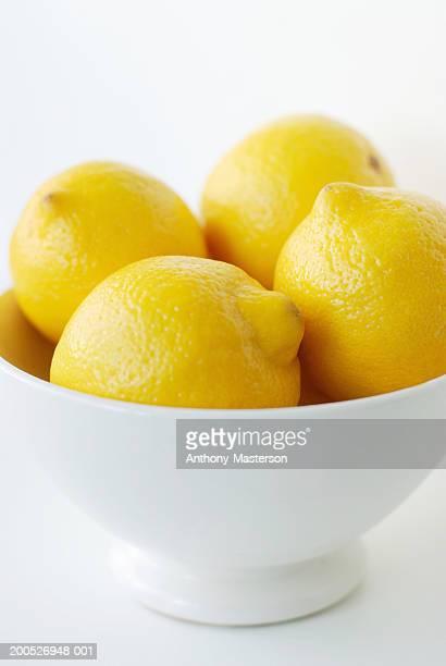 Lemons in white bowl