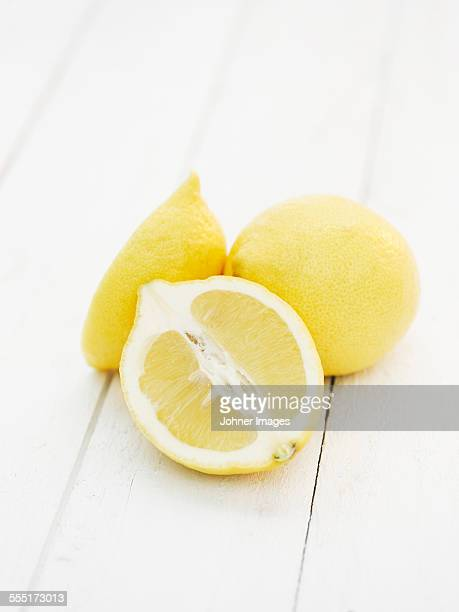 Lemons on white background