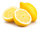 lemons sliced isolated