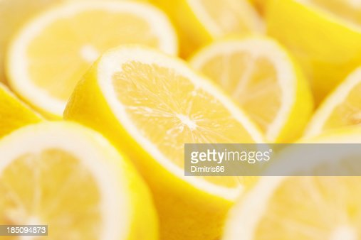 Lemons portions with shallow depth of field