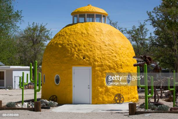 A lemonshaped motel along Highway 395 is viewed on April 4 in Olancha California Owens Valley is an arid valley in eastern California to the east of...