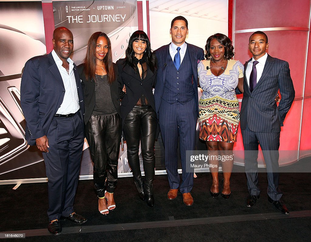 Len Bernett of Uptown Magazine, Mara Brock Akil, Carmen Murray, Woody Wilson, Bevy Smith and Victor Gwaltney of Lincoln Mortor Campany attend The Journey Gala hosted by Bevy Smith at The Beverly Hilton Hotel on September 10, 2013 in Beverly Hills, California.