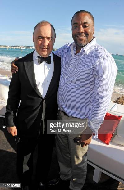 Len Blavatnik and director Lee Daniels attends as Icon launches 'The Butler' during the 65th Cannes Film Festival at Baoli Beach on May 22 2012 in...
