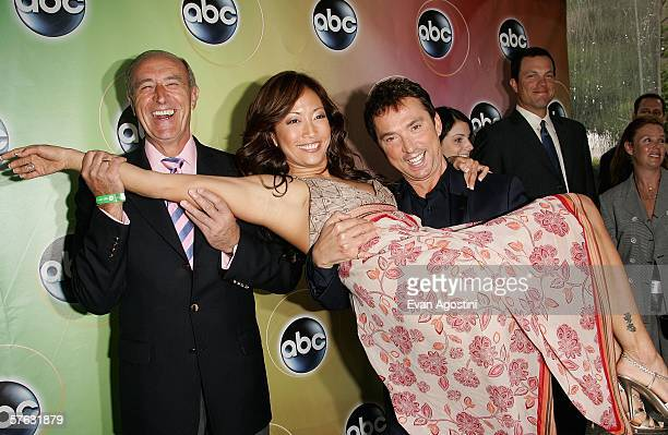 Len Goodman Carrie Ann Inaba and Bruno Tonioli attend the ABC Television Network Upfront at Lincoln Center May 16 2006 in New York City