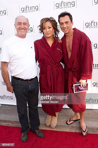 Len Goodman Carrie Ann Inaba and Bruno Tonioli attend the Dancing With The Stars Season 9 Finale Honored By Gifting Services Day 1 on November 23...