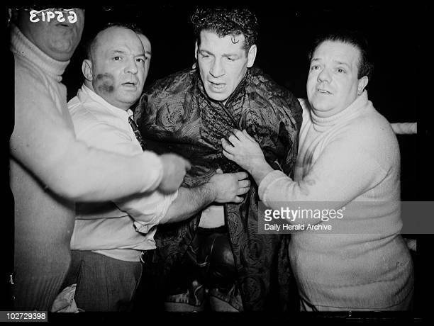 Len Harvey 1938 A photograph of boxer Len Harvey after winning the British light heavyweight title taken by Edward Malindine for the Daily Herald...