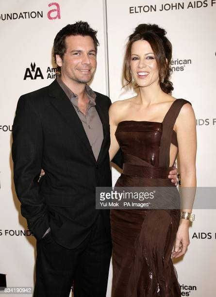 Len Wiseman and Kate Beckinsale arrive for the 16th Annual Sir Elton John AIDS Foundation Oscar Party at the Pacific Design Centre in Los Angeles