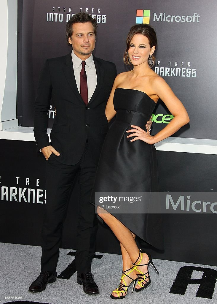 Len Wiseman and Kate Beckinsale attend the Los Angeles premiere of 'Star Trek: Into Darkness' held at Dolby Theatre on May 14, 2013 in Hollywood, California.