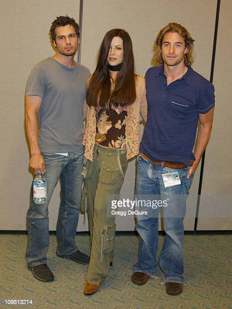 Len Wiseman Kate Beckingsale Scott Speedman during 2003 San Diego ComicCon International at San Diego Convention Center in San Diego CA United States