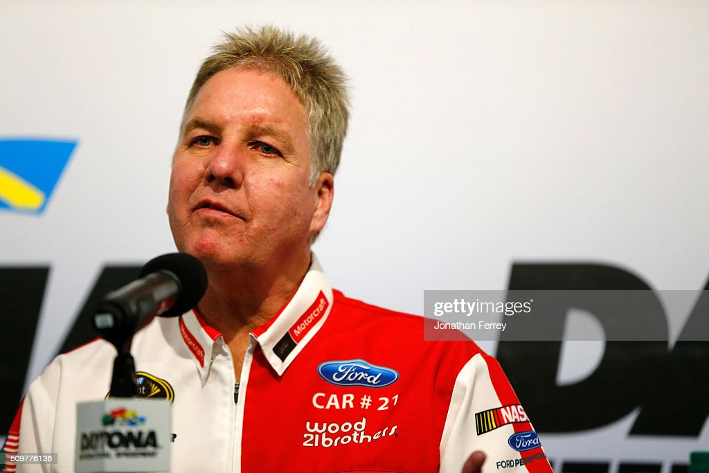 Len Wood, owner of Woods Borothers Racing speaks at a press conference at Daytona International Speedway on February 12, 2016 in Daytona Beach, Florida.