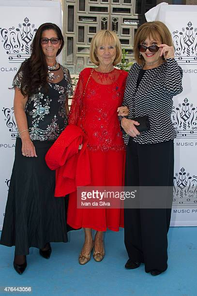 Lena Ahlstrom Vicky von der Lancken and Lill Lindfors attend Polar Music Prize at Stockholm Concert Hall on June 9 2015 in Stockholm Sweden