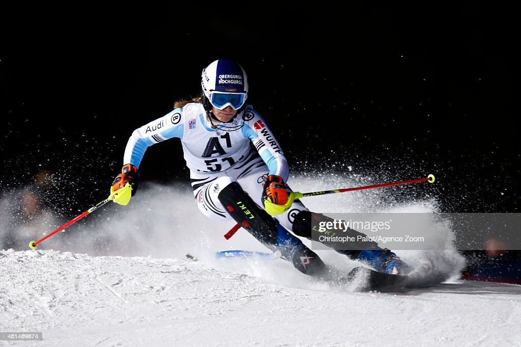 <a gi-track='captionPersonalityLinkClicked' href=/galleries/search?phrase=Lena+Duerr&family=editorial&specificpeople=6479654 ng-click='$event.stopPropagation()'>Lena Duerr</a> of Germany competes during the Audi FIS Alpine Ski World Cup Women's Slalom on January 13, 2015 in Flachau, Austria.