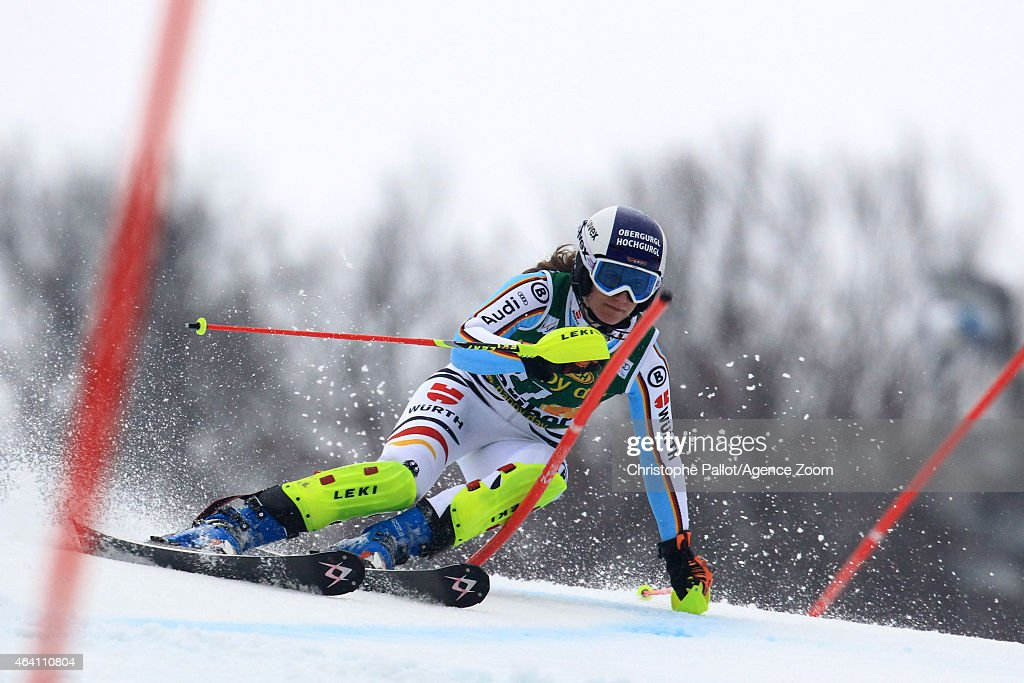 <a gi-track='captionPersonalityLinkClicked' href=/galleries/search?phrase=Lena+Duerr&family=editorial&specificpeople=6479654 ng-click='$event.stopPropagation()'>Lena Duerr</a> of Germany competes during the Audi FIS Alpine Ski World Cup Women's Slalom on February 22, 2015 in Maribor, Slovenia.