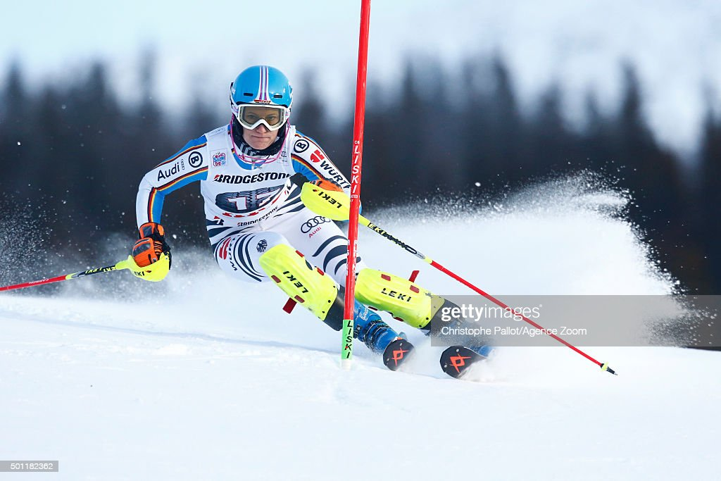 <a gi-track='captionPersonalityLinkClicked' href=/galleries/search?phrase=Lena+Duerr&family=editorial&specificpeople=6479654 ng-click='$event.stopPropagation()'>Lena Duerr</a> of Germany competes during the Audi FIS Alpine Ski World Cup Women's Slalom on December 13, 2015 in Are, Sweden.