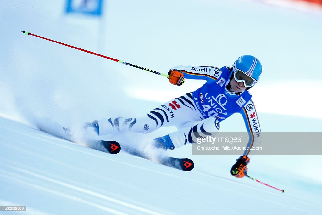 <a gi-track='captionPersonalityLinkClicked' href=/galleries/search?phrase=Lena+Duerr&family=editorial&specificpeople=6479654 ng-click='$event.stopPropagation()'>Lena Duerr</a> of Germany competes during the Audi FIS Alpine Ski World Cup Women's Giant Slalom on December 28, 2015 in Lienz, Austria.
