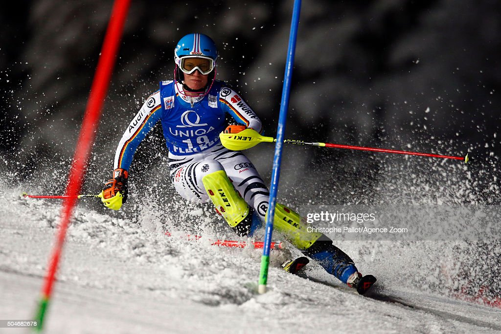 <a gi-track='captionPersonalityLinkClicked' href=/galleries/search?phrase=Lena+Duerr&family=editorial&specificpeople=6479654 ng-click='$event.stopPropagation()'>Lena Duerr</a> of Germany competes during the Audi FIS Alpine Ski World Cup Women's Slalom on January 12, 2016 in Flachau, Austria.
