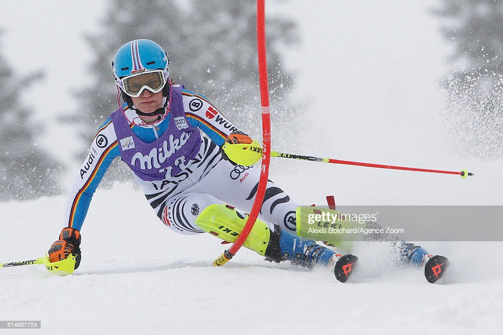 <a gi-track='captionPersonalityLinkClicked' href=/galleries/search?phrase=Lena+Duerr&family=editorial&specificpeople=6479654 ng-click='$event.stopPropagation()'>Lena Duerr</a> of Germany competes during the Audi FIS Alpine Ski World Cup Women's Slalom on March 06, 2016 in Jasna, Slovakia.