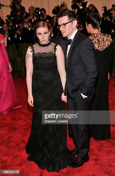 Lena Dunham and Erdem Moralioglu attend the Costume Institute Gala for the 'PUNK Chaos to Couture' exhibition at the Metropolitan Museum of Art on...