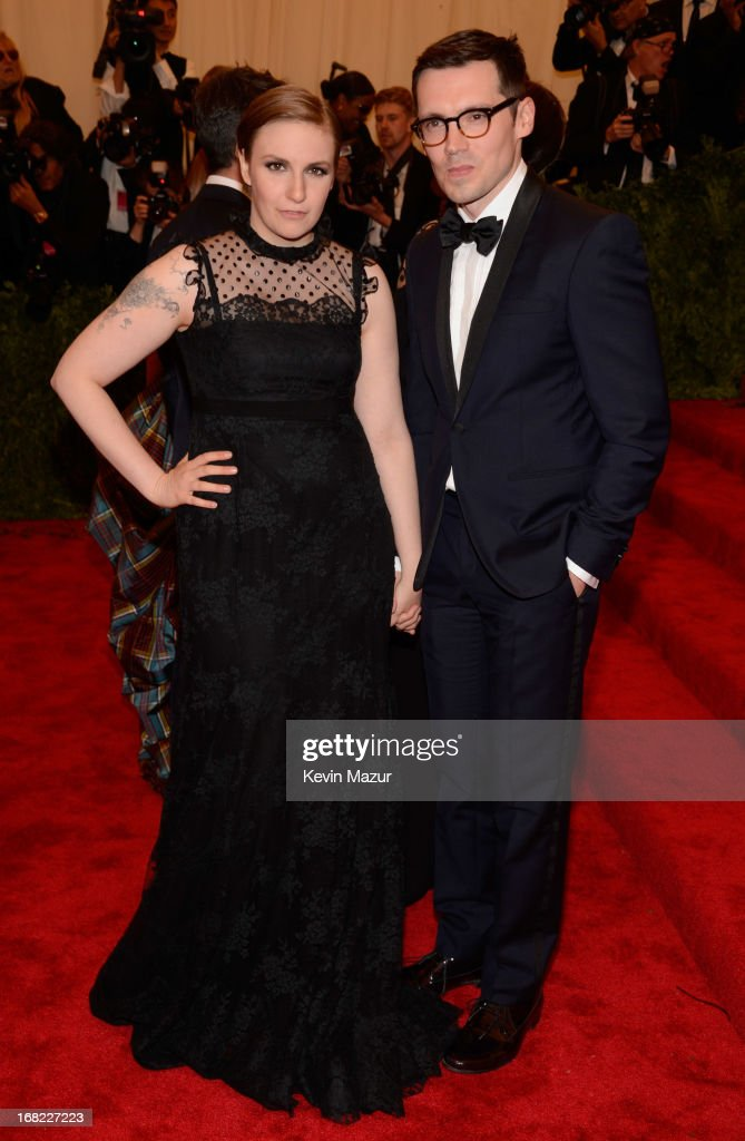 <a gi-track='captionPersonalityLinkClicked' href=/galleries/search?phrase=Lena+Dunham&family=editorial&specificpeople=5836535 ng-click='$event.stopPropagation()'>Lena Dunham</a> and Erdem Moralioglu attends the Costume Institute Gala for the 'PUNK: Chaos to Couture' exhibition at the Metropolitan Museum of Art on May 6, 2013 in New York City.