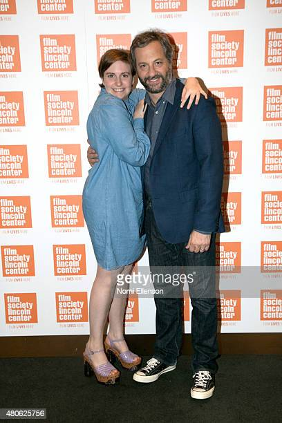 Lena Dunham and Judd Apatow attend the 2015 Film Society of Lincoln Center Summer Talks with Judd Apatow and Lena Dunham at Elinor Bunin Munroe Film...