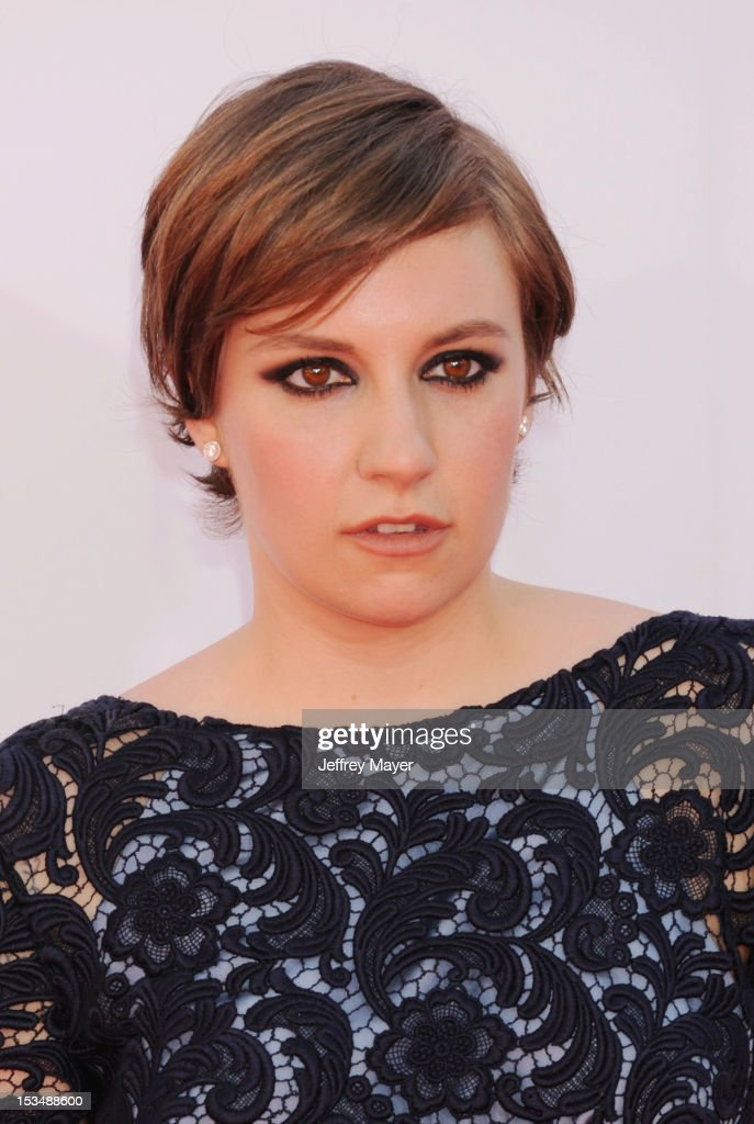 Lena Dunham arrives at the 64th Primetime Emmy Awards at Nokia Theatre L.A. Live on September 23, 2012 in Los Angeles, California.