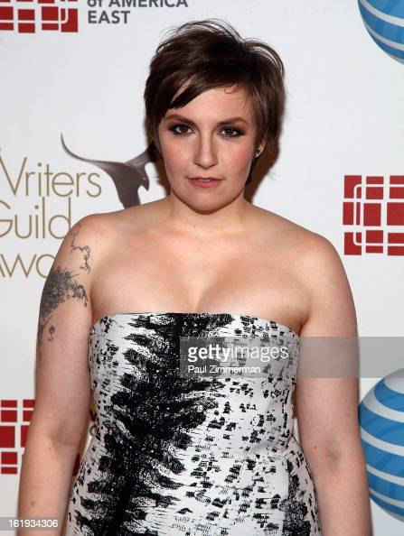 Lena Dunham attends 65th Annual Writers Guild East Coast Awards at BB King Blues Club Grill on February 17 2013 in New York City