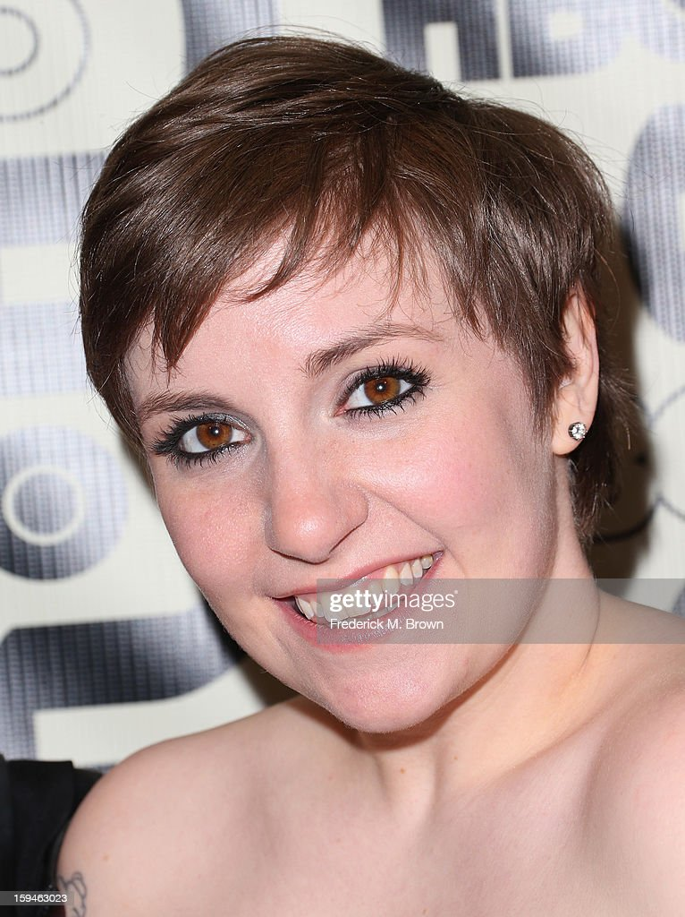 <a gi-track='captionPersonalityLinkClicked' href=/galleries/search?phrase=Lena+Dunham&family=editorial&specificpeople=5836535 ng-click='$event.stopPropagation()'>Lena Dunham</a> attends HBO's Post 2013 Golden Globe Awards Party held at Circa 55 Restaurant at the Beverly Hilton Hotel on January 13, 2013 in Beverly Hills, California.