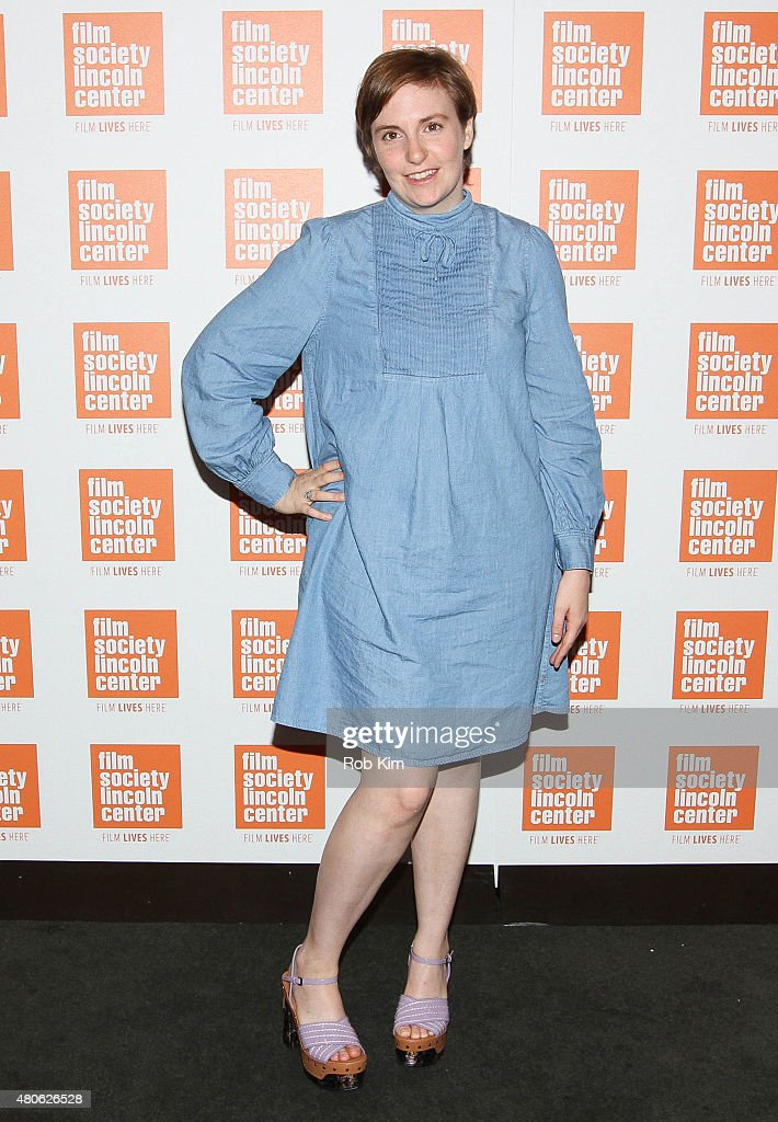 Lena Dunham attends the 2015 Film Society of Lincoln Center Summer Talks with Judd Apatow event at Walter Reade Theatre on July 13 2015 in New York...