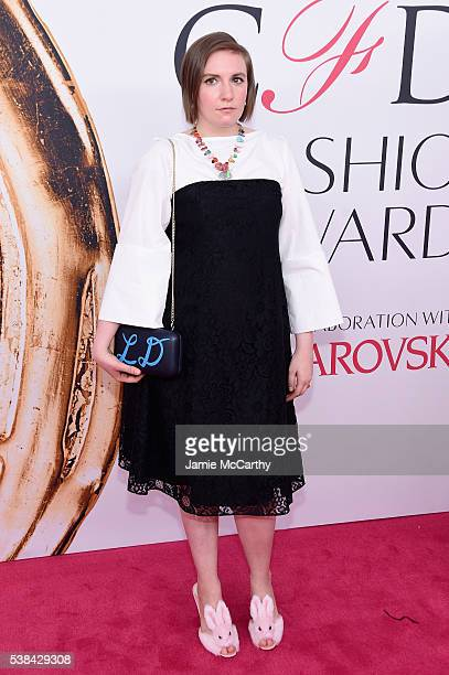 Lena Dunham attends the 2016 CFDA Fashion Awards at the Hammerstein Ballroom on June 6 2016 in New York City