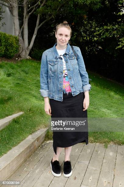 Lena Dunham attends the annual HEART Brunch featuring Stella McCartney on April 18 2017 in Los Angeles California