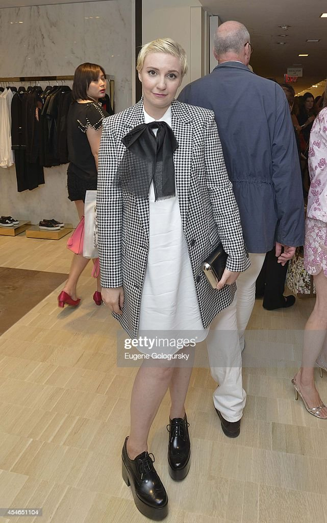 Lena Dunham attends the Bergdorf Goodman And Michael Kors Celebration of Betty Halbreich's New Memoir 'I'll Drink To That A Life in Style with a...