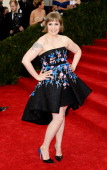 Lena Dunham attends the 'Charles James Beyond Fashion' Costume Institute Gala at the Metropolitan Museum of Art on May 5 2014 in New York City