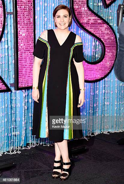Lena Dunham attends the 'Girls' season four premiere at American Museum of Natural History on January 5 2015 in New York City