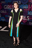 Lena Dunham attends the 'Girls' Season Four Premiere at the American Museum of Natural History on January 5 2015 in New York City