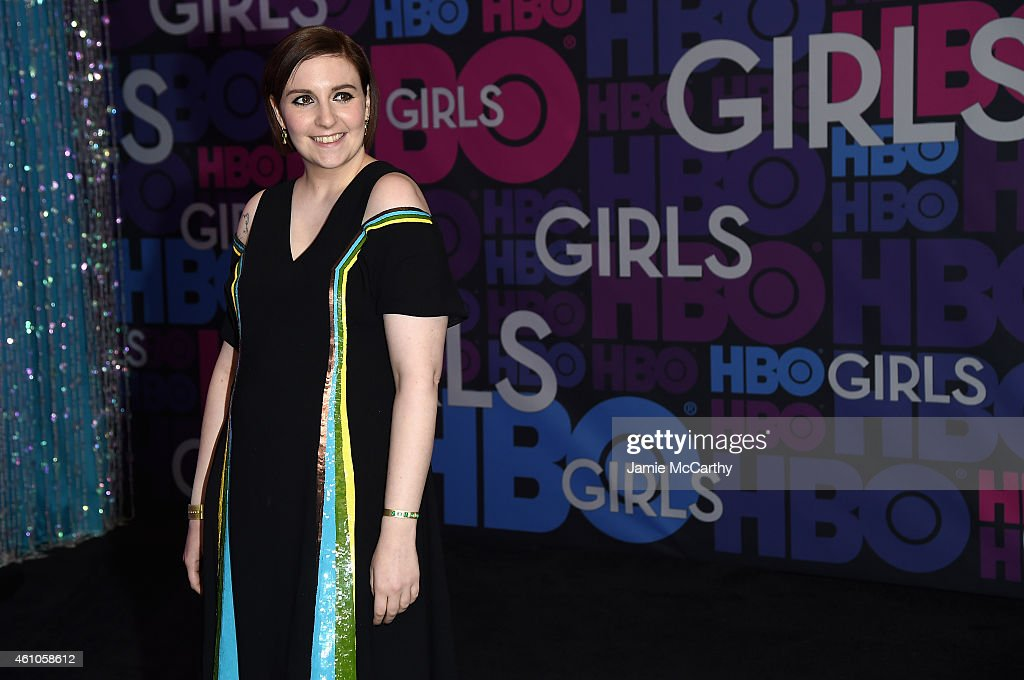 Lena Dunham attends the 'Girls' season four series premiere at American Museum of Natural History on January 5 2015 in New York City
