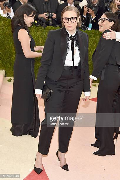 Lena Dunham attends the 'Manus x Machina Fashion In An Age Of Technology' Costume Institute Gala at Metropolitan Museum of Art on May 2 2016 in New...