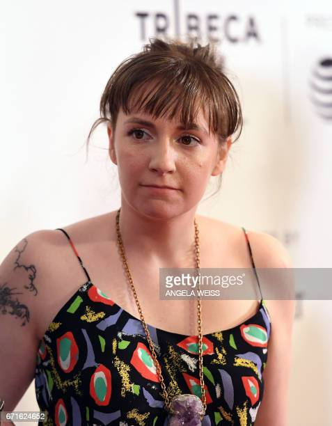 Lena Dunham attends the 'My Art' premiere during 2017 Tribeca Film Festival at Cinepolis Chelsea on April 22 2017 in New York City / AFP PHOTO /...