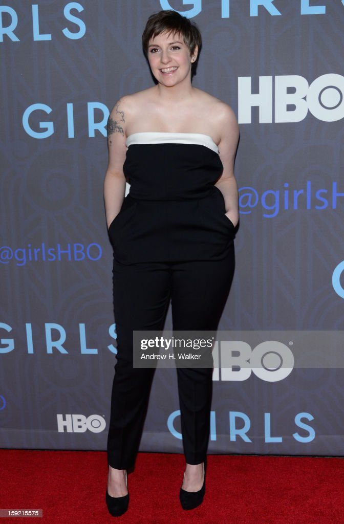 <a gi-track='captionPersonalityLinkClicked' href=/galleries/search?phrase=Lena+Dunham&family=editorial&specificpeople=5836535 ng-click='$event.stopPropagation()'>Lena Dunham</a> attends the premiere of 'Girls' season 2 hosted by HBO at NYU Skirball Center on January 9, 2013 in New York City.
