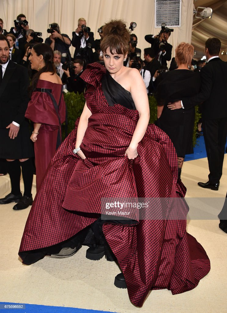 Lena Dunham attends the 'Rei Kawakubo/Comme des Garcons: Art Of The In-Between' Costume Institute Gala at Metropolitan Museum of Art on May 1, 2017 in New York City.