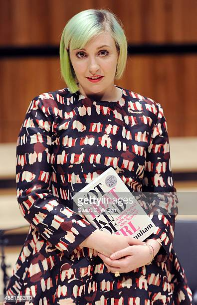 Lena Dunham launches her book 'Not That Kind Of Girl' at the Royal Festival Hall on October 31 2014 in London England