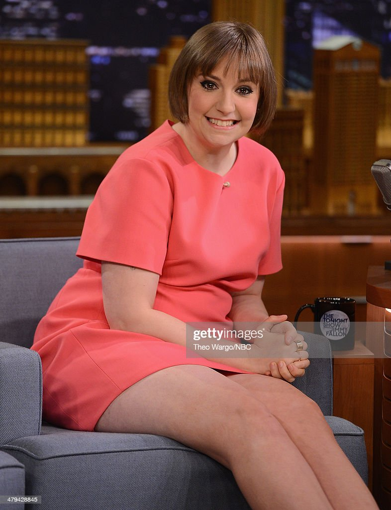 <a gi-track='captionPersonalityLinkClicked' href=/galleries/search?phrase=Lena+Dunham&family=editorial&specificpeople=5836535 ng-click='$event.stopPropagation()'>Lena Dunham</a> visits 'The Tonight Show Starring Jimmy Fallon' at Rockefeller Center on March 18, 2014 in New York City.