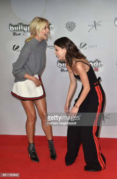 Lena Gercke and Lena MeyerLandrut during 'Bullyparade Der Film' premiere at Mathaeser Filmpalast on August 13 2017 in Munich Germany