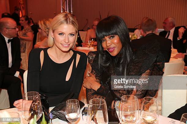 Lena Gercke and Naomi Campbell during the Gala Spa Awards on April 2 2016 in BadenBaden Germany