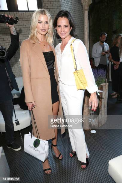 Lena Gercke and Nina Kron during the Marc Cain Fashion Show Spring/Summer 2018 at ewerk on July 4 2017 in Berlin Germany
