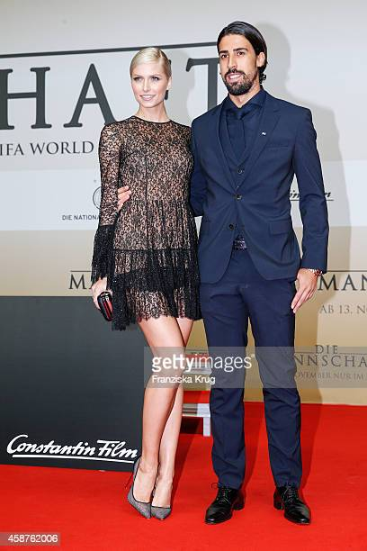 Lena Gercke and Sami Khedira attend the 'Die Mannschaft' Premiere at Sony Centre on November 10 2014 in Berlin Germany